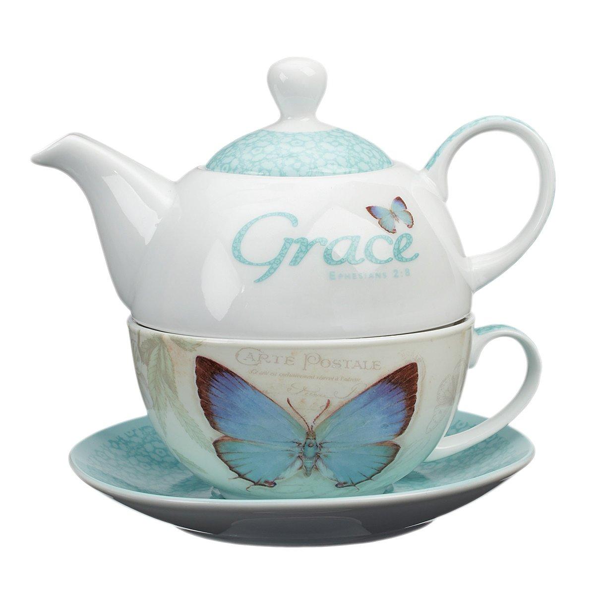 Botanic Butterfly Blessings ''Grace'' Tea-for-One Set