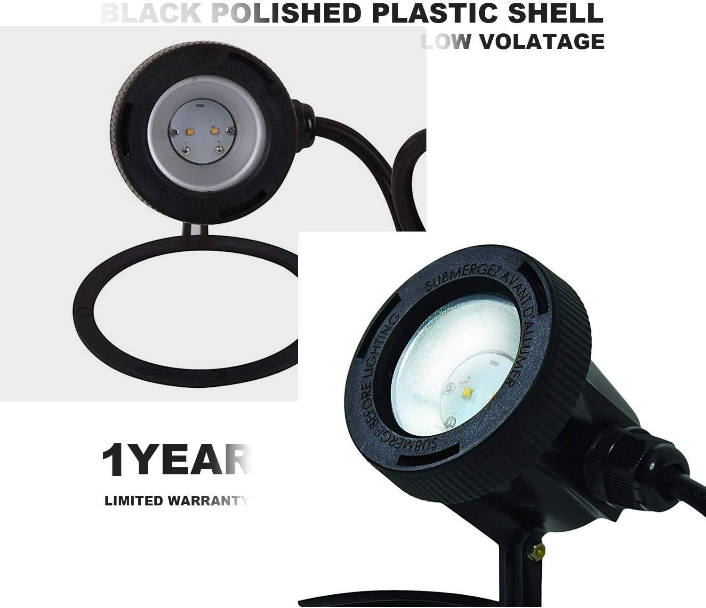 Malibu Submersible LED Pond Light 8-Pack Low Voltage Landscape Lighting Underwater Flood Light 8401-3501-08