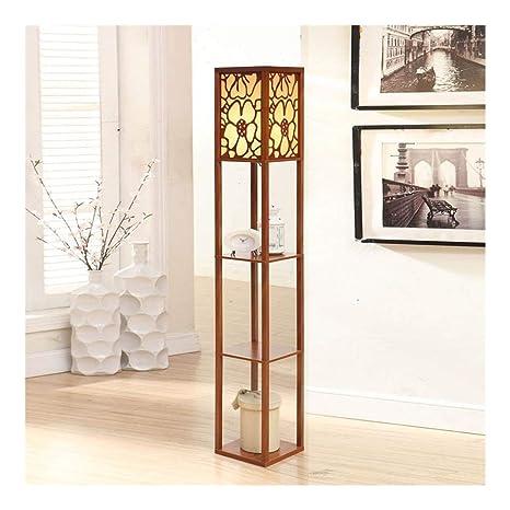 Amazon.com: Lámpara de pie con estantes, esquina vertical ...