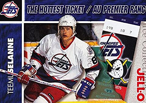 Teemu Selanne Hockey Card 1995-96 Kraft Jell-O Hottest Tickets 12 Teemu Selanne - Hottest Ticket
