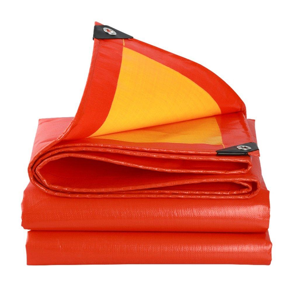 rouge+jaune 8x12m Tarps Medium Duty imperméable   Couverture De Remorque De Tente De Sol   Grande BÂche en Plusieurs Tailles 210g   M² -0.38mm