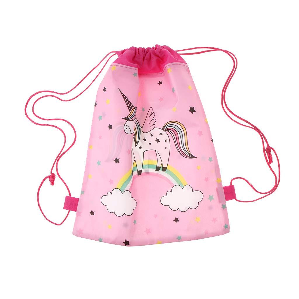 Magic Unicorn Dinosaur Kids Swim Drawstring Bag Girls child School Gym Backpack