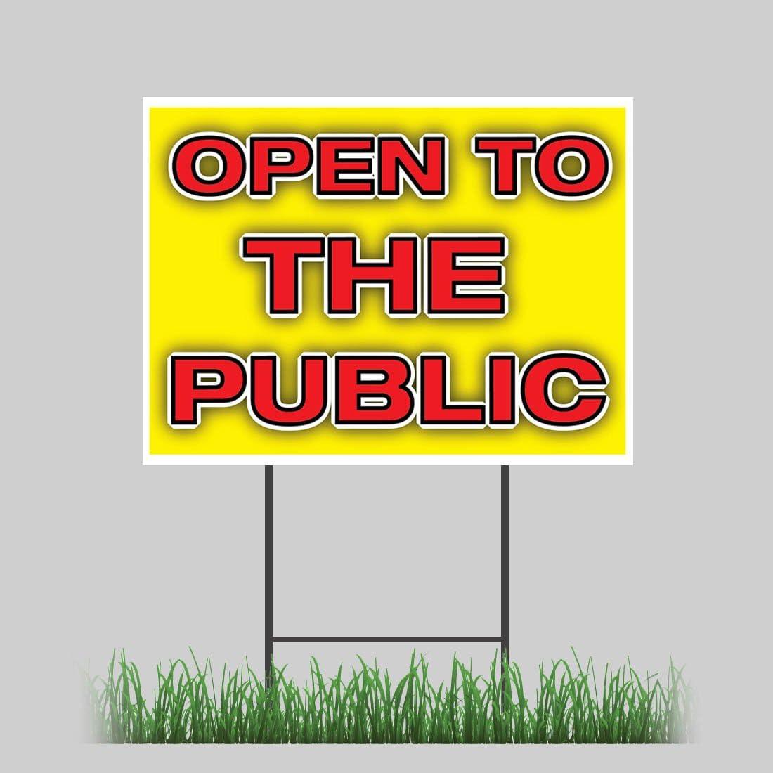 "OPEN SUNDAYS 18/""x24/"" Yard Sign /& Stake outdoor plastic coroplast window"