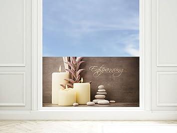 GRAZDesign Fensterschutzfolie Entspannung - Blickdichte Fensterfolie ...