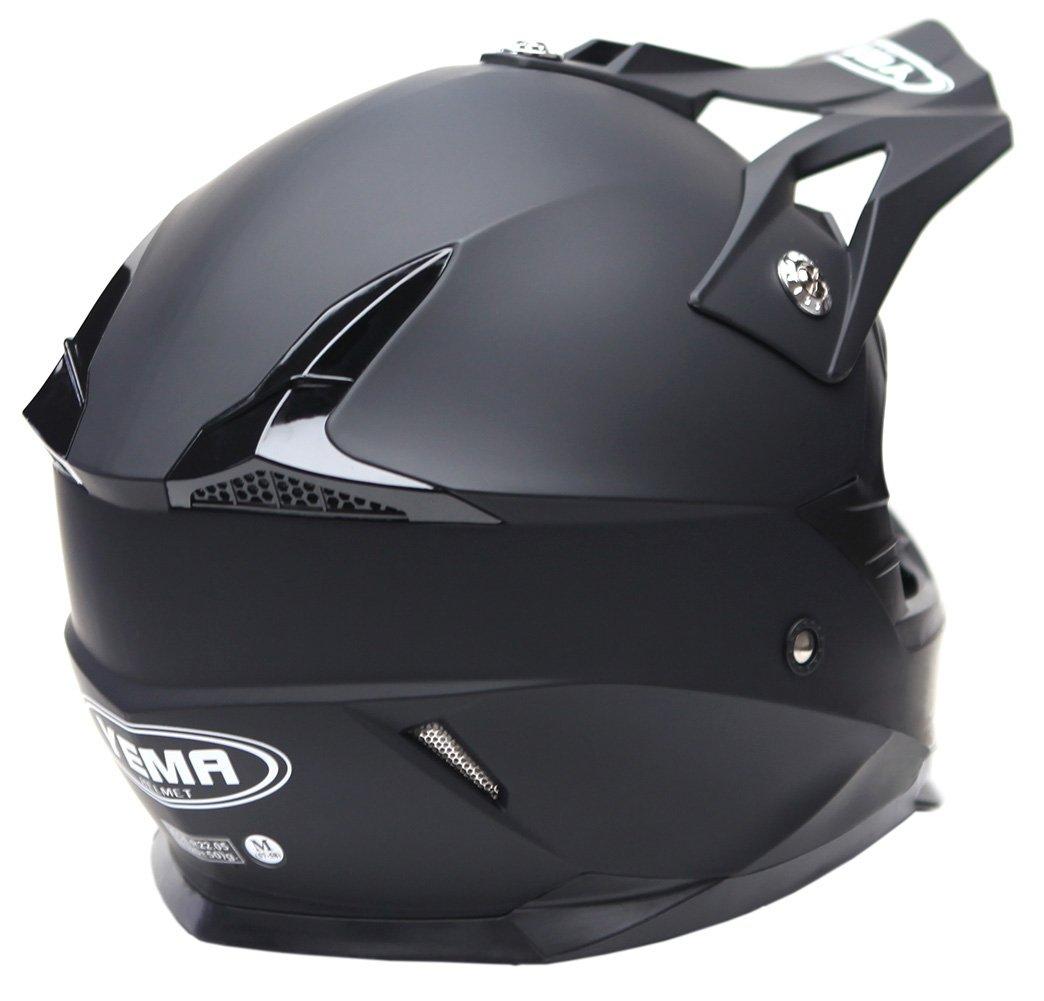 Nero Opaco YEMA Casco Motocross Integrale Motard Downhill YM-915 Caschi Moto Cross Integrali DH ECE Omologato Donna Uomo L