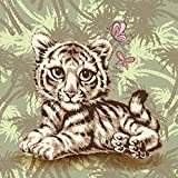 exterior paint color ideas 5D Diamond Painting Rhinestone Cartoon Little Tiger Butterfly Embroidery Wallpaper DIY Wall Sticker by Number Kits Full Drill Kits Full Drill Cross Stitch Arts 25X25CM