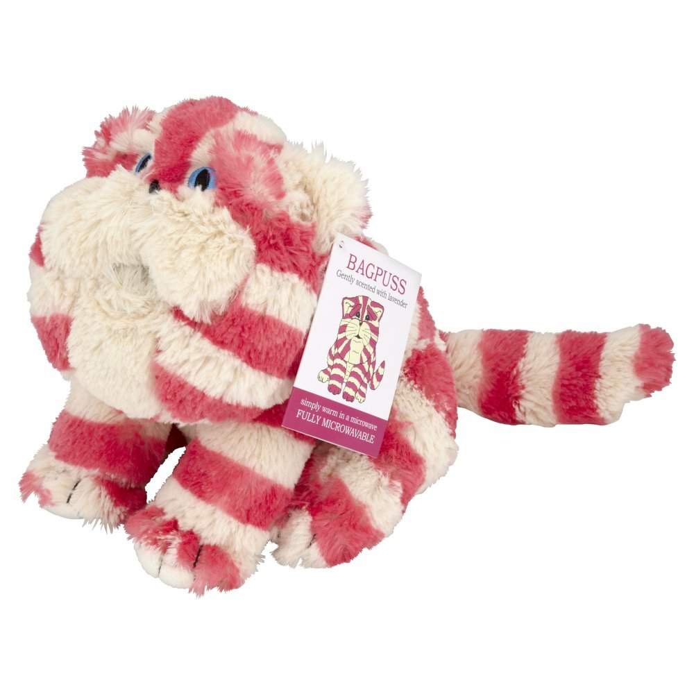 Plush Microwavable Bagpuss with dried lavender fragrance - 100% natural.