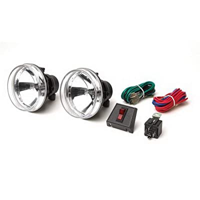 """RAMPAGE PRODUCTS 5083059 Universal 4"""" Round Clear Lens Fog Lamp Kit for Recovery Bumper, Front/Rear: Automotive"""