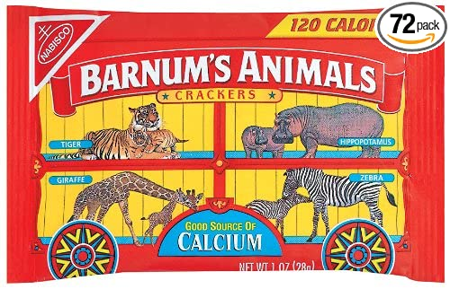 Barnum's Animal Crackers, 1-Ounce Bags (Pack of 72) Barnum' s Animal Crackers Barnum' s Animals