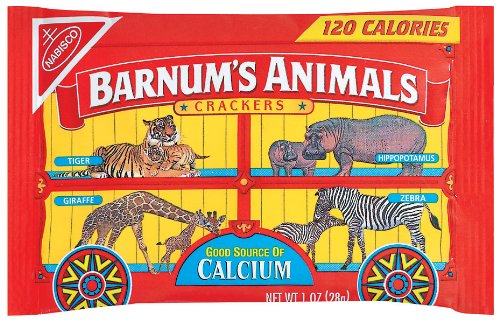 Barnum's Animal Crackers, 1-Ounce Bags (Pack of 72) ()