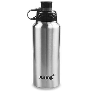Juning Sport 18/10 Botella de agua Botella de Thermos 900ml Botella aislada del acero