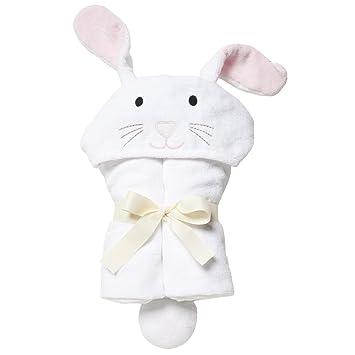 Amazon Com Elegant Baby Bath Time Gift Hooded Towel Wrap White