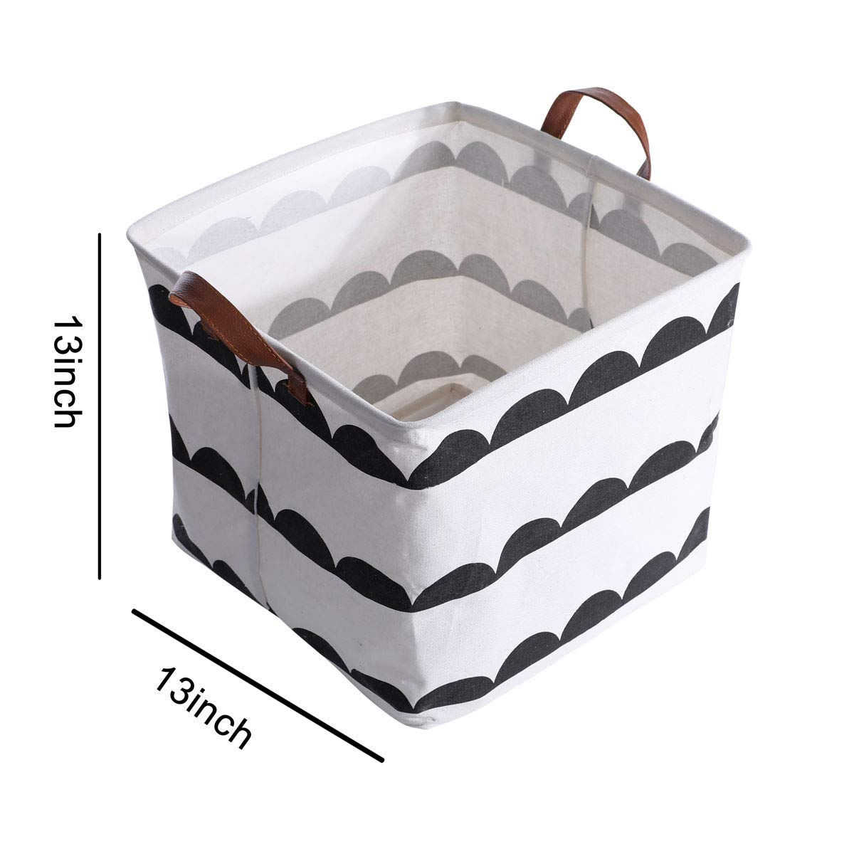 Large Hamper Laundry Basket ROYTXT Collapsible Cubes Storage Bin Foldable Dirty Clothes Bag with Handles Home Bedroom Office Toys Books Organizer