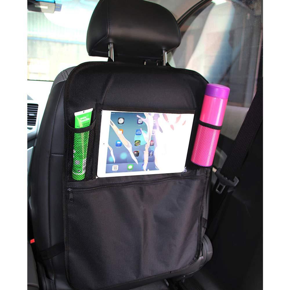 Protector de asiento y organizador de asiento trasero resistente al agua y a las manchas con m/últiples bolsillos