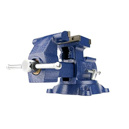 wilton 14500 4500, reversible mechanics vise-swivel base, 5-1/2-inch jaw  width, 6-inch jaw opening, 3-3/4-inch throat depth - pin vises - amazon com