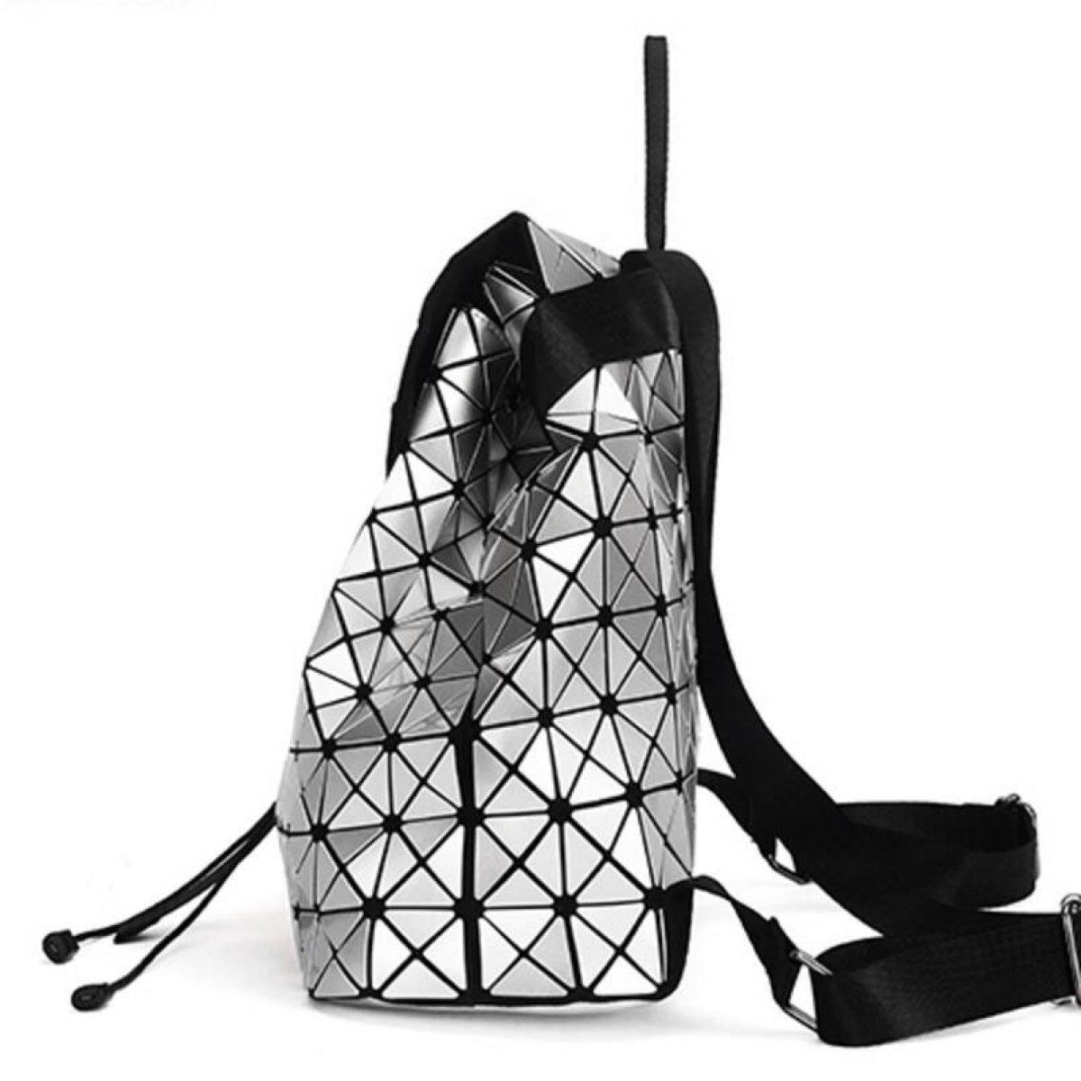 Geometrische Laser-Damen-Rucksack-Reise-Schulter-Beutel-Aktenkoffer-Rucksack,LaserRosarot B074882SZB | Nutzen Sie Materialien Materialien Materialien voll aus  | Verkauf  | Merkwürdige Form  60a6df