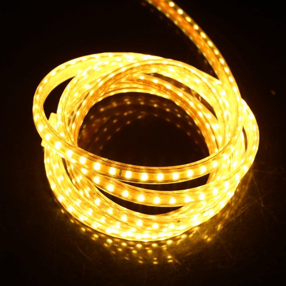 2m Chaud Ruban /à LED avec Interrupteur 220V 5050 IP68 /étanche High Bright Three Chips avec interrupteur Strip Flexible Bande Tr/ès Lumineux Bandeau