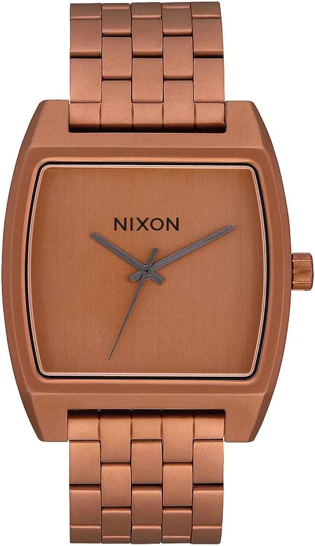 Nixon Time Tracker Reloj para Mujer Digital de Cuarzo con Brazalete de Acero Inoxidable bañado en Oro A12453165
