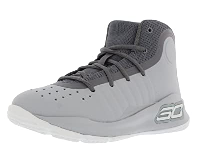 071b1bb8eb1d Under Armour Curry 4 Mid (Preschool) Grey White