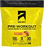 ASCENT Orange Mango Pre-Workout Hydration Fuel, 0.39 OZ
