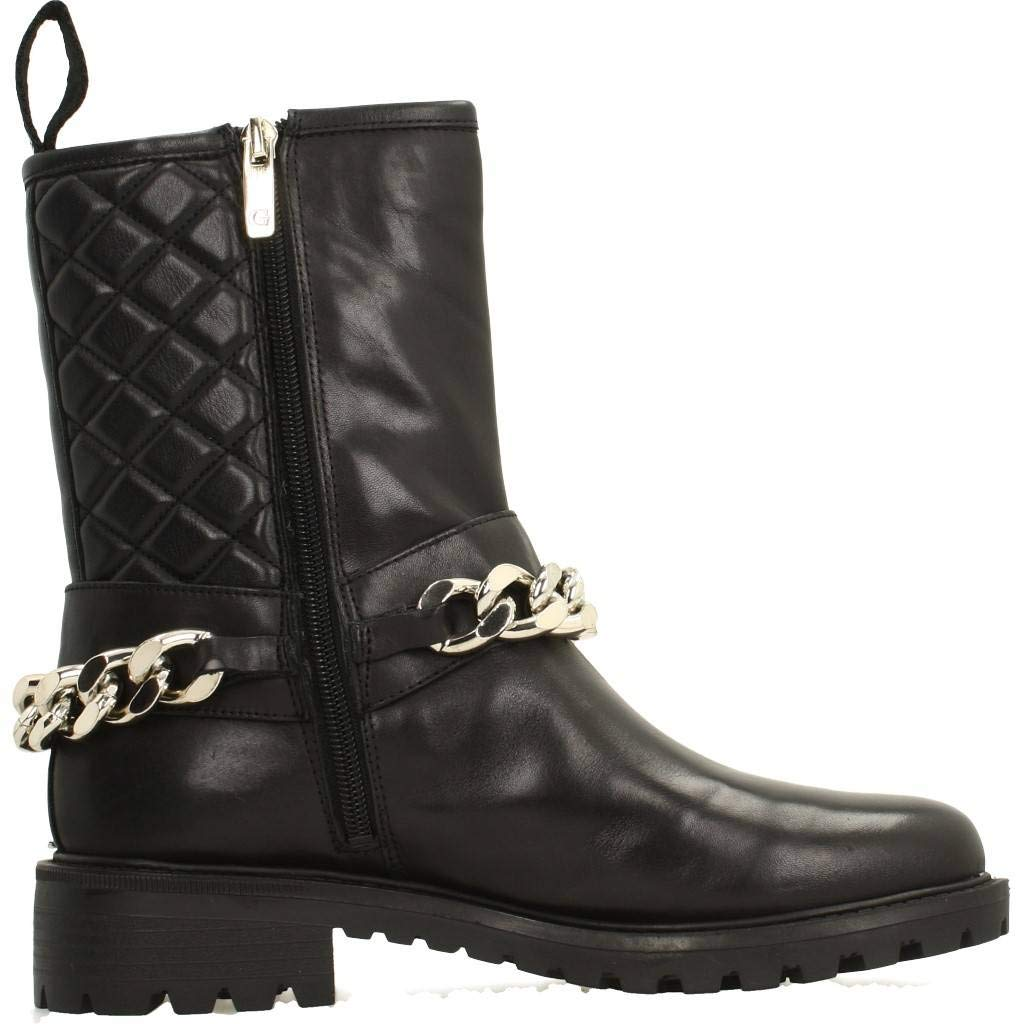 Botas de Piel GUESS Moteras Negras Cadena Mujer HADDEY  Amazon.es  Zapatos  y complementos e042e1019b566