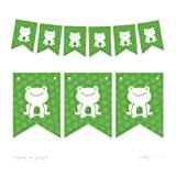 Andaz Press Hanging Pennant Party Banner with String, Frog, 9-Feet, 1-Set, Decor Paper Decorations, Includes String