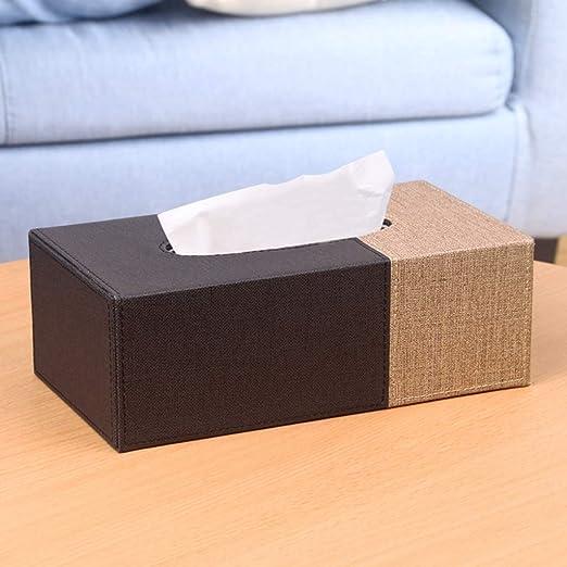 FKYGDQ Caja de pañuelos de Papel, Caja de Papel de Cuero para el ...