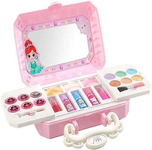 OSCAR BATES - Mini estuche de maquillaje para niños, diseño de princesas con estuche portátil 2 en 1 para salón de maquillaje (S22606): Amazon.es: Hogar