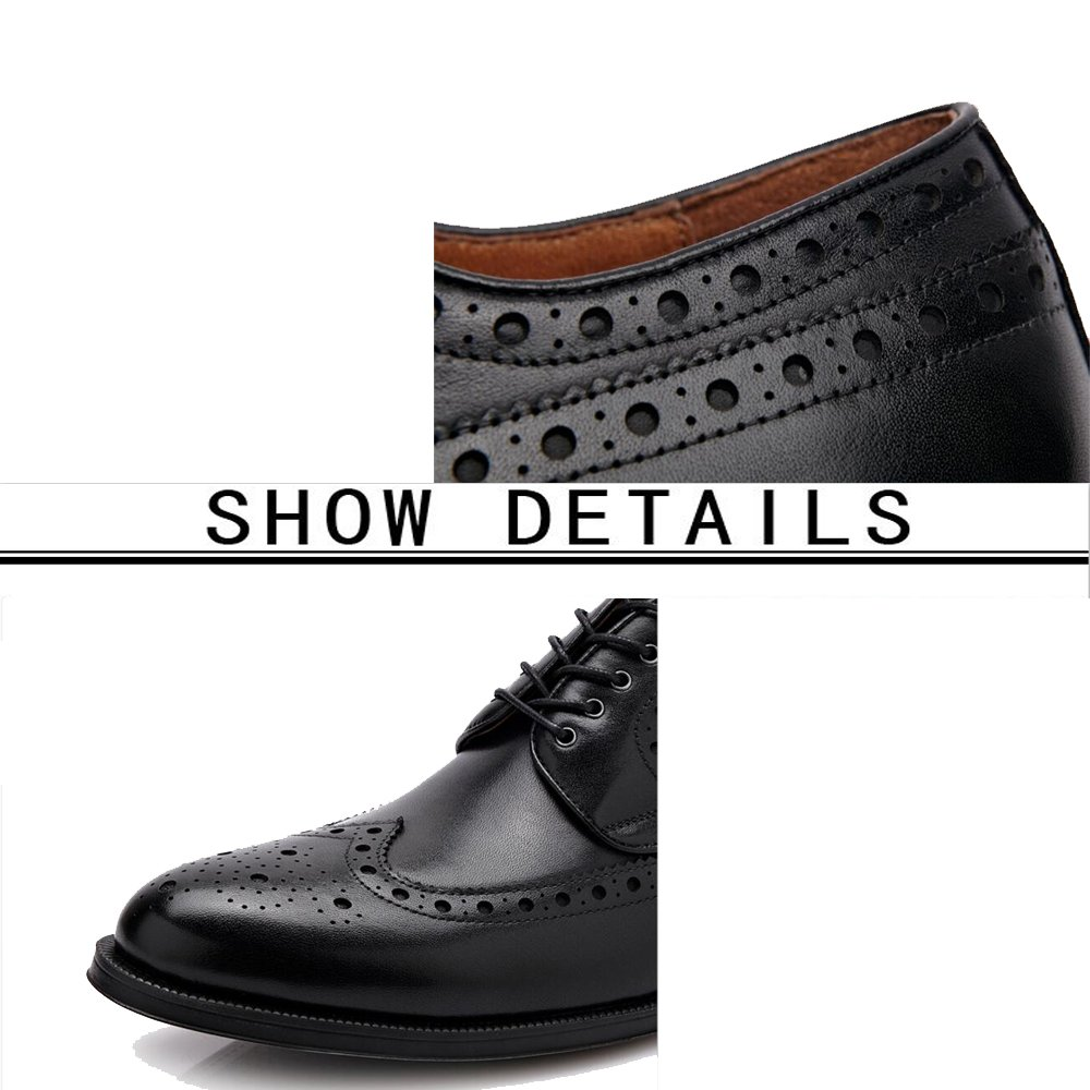 GAOLIXIA Herren Formelle Ochsen Oxford Schuhe Klassische Schnürschuhe - - - Bullock Leder Geschnitzt Plateauschuhe - Britischen Stil Casual Retro Schuhe de576e
