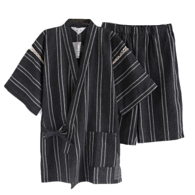 Fancy Pumpkin Traje de Pijama Kimono de Estilo japonés para Hombres [D]