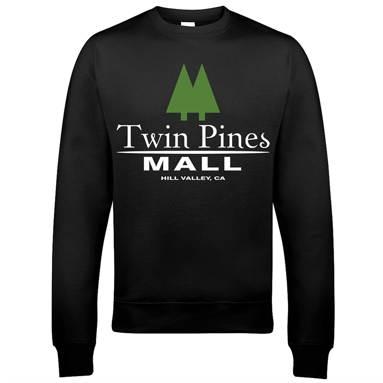 9014 Twin Pines Mall Mens Sweatshirt Back To The Future BTTF Hoverboard 88mph Hill Valley Biff Co Emmett Brown