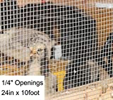 1/4 Openings 24in x 10foot Welded Wire Mesh Square Hot Dipped Galvanized Hardware Cloth Gutter Guard Garden Poultry Netting Chicken Run Coops Wire Rabbit Window Cover Fences Fecing Amagabeli