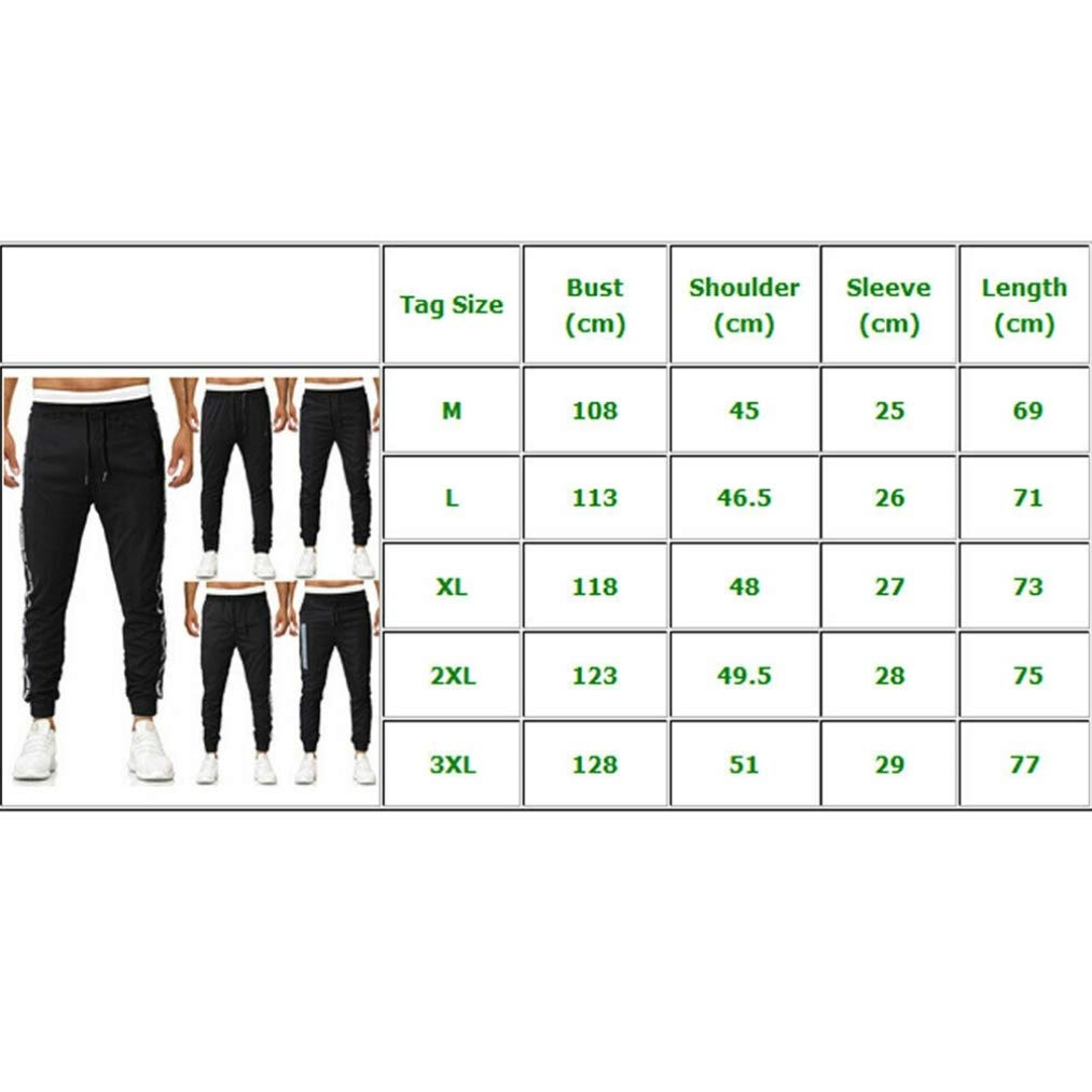 Feidaeu Pantaloni della Tuta da Uomo Pantaloni Slim Sport Palestra Magro Comfort Elastico Pantaloni da Jogging Traspiranti Abbigliamento Sportivo Abbigliamento