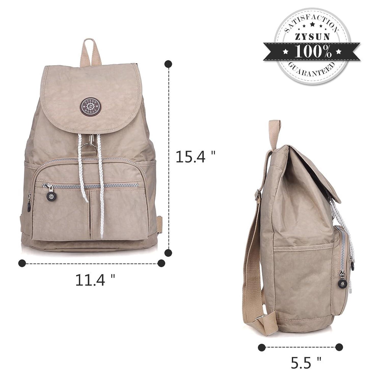 zysun fashion travel school backpacks lightweight bag