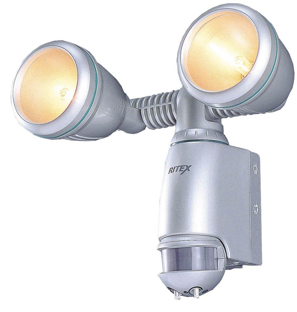 ムサシ RITEX 防雨センサーライトV ハロゲン100W×2 V-1200 B0009RFPFY