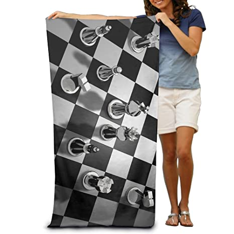 Gran ajedrez piezas tamaño grande toalla de playa piscina toalla, toallas de baño para baño