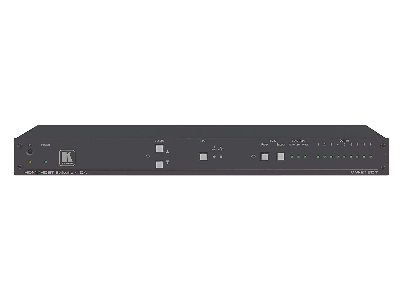 Kramer VM-218DT 2x1(8) 4K60 HDMIと長到達 HDBaseT/G24/IRとステレオオーディオスイッチ可能 DA B07JVPTD3N