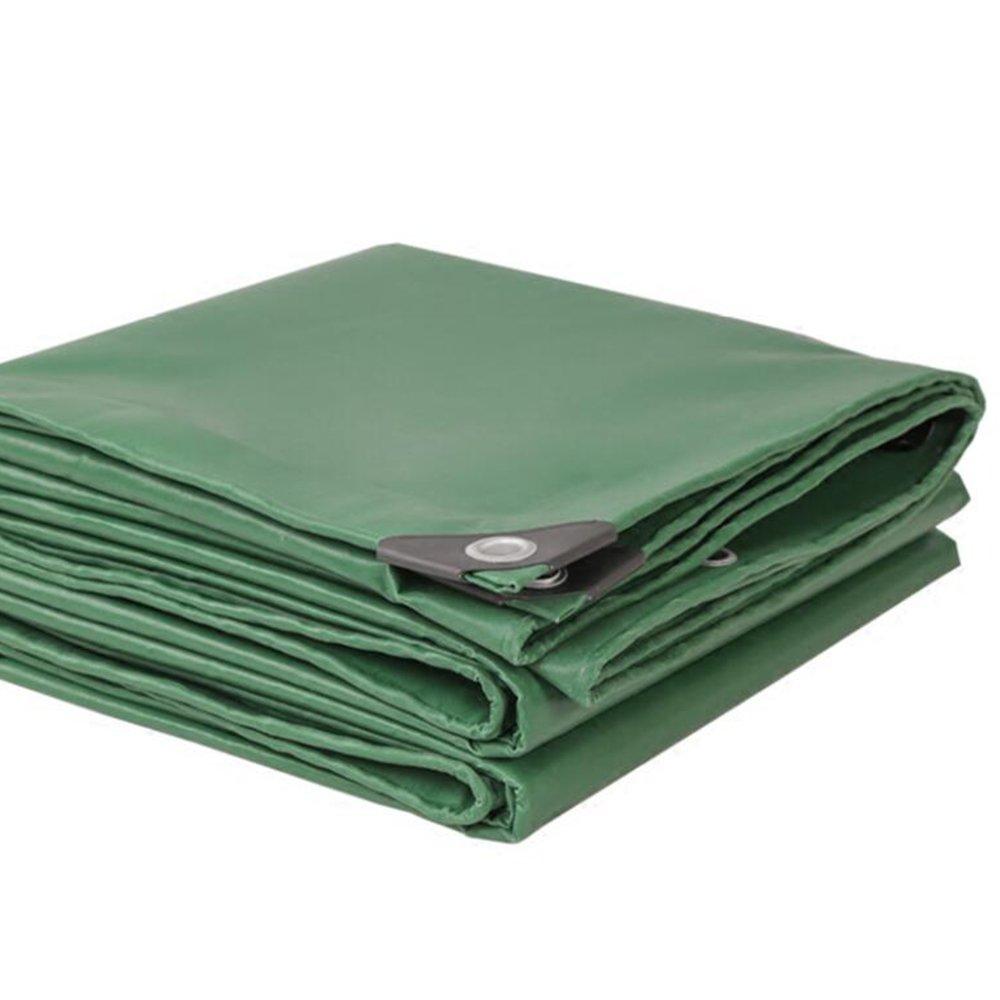 zhangrong-アウトドアThicker Tarpaulin \キャンバス\雨布\ PVCプラスチック布\シャドウ布\ Waterproof Sunscreen Tarpaulin \キャノピー布500 g \ m ² (厚さ0.42 MM B07FGX631Y  アーミーグリーン 6*6m