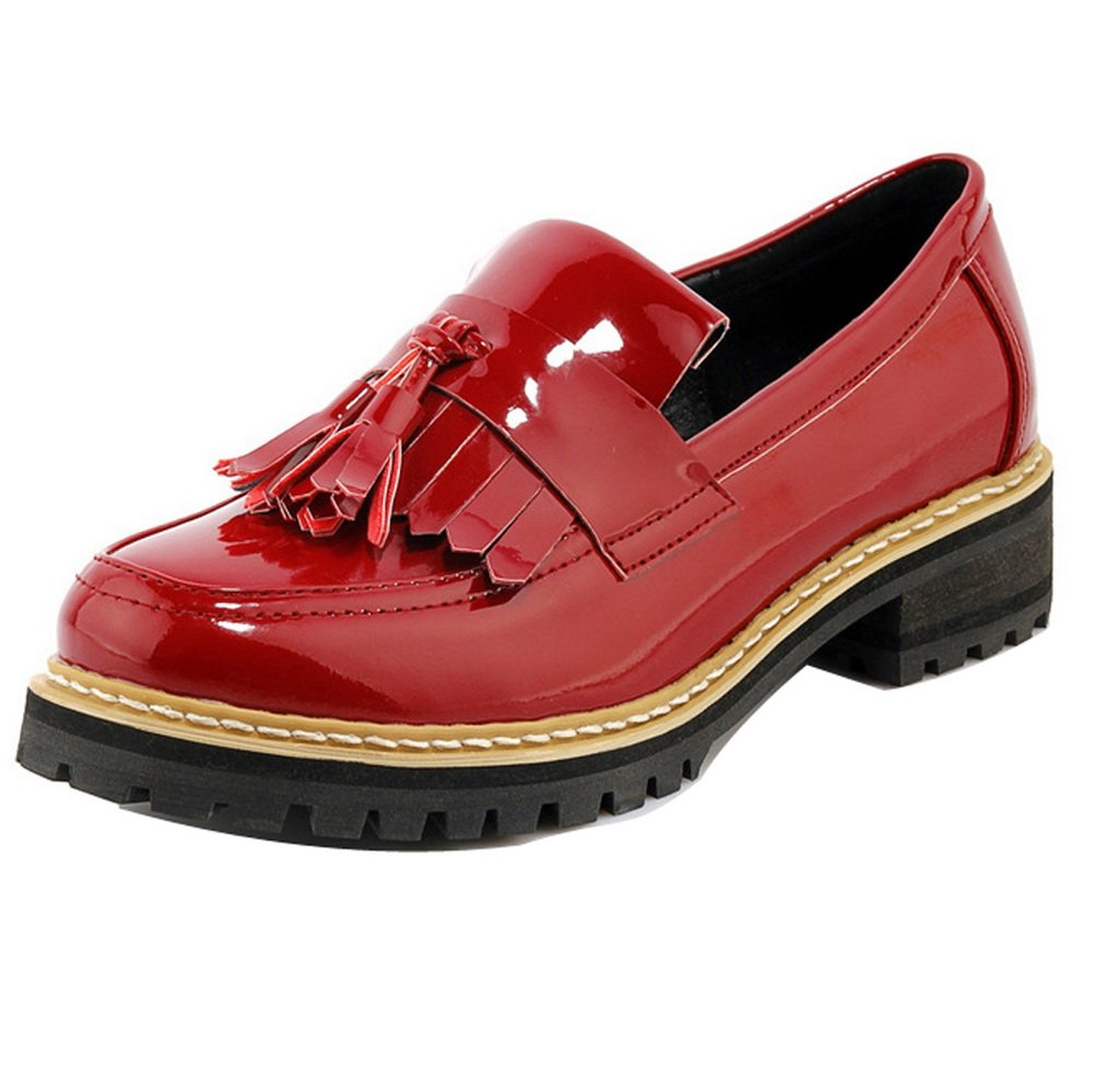 LadolaDgug00322 - Zapatos Planos con Cordones mujer 36.5 EU|burdeos