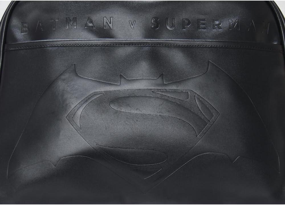Batman v Superman Embossed Logo Leather Messenger Bag