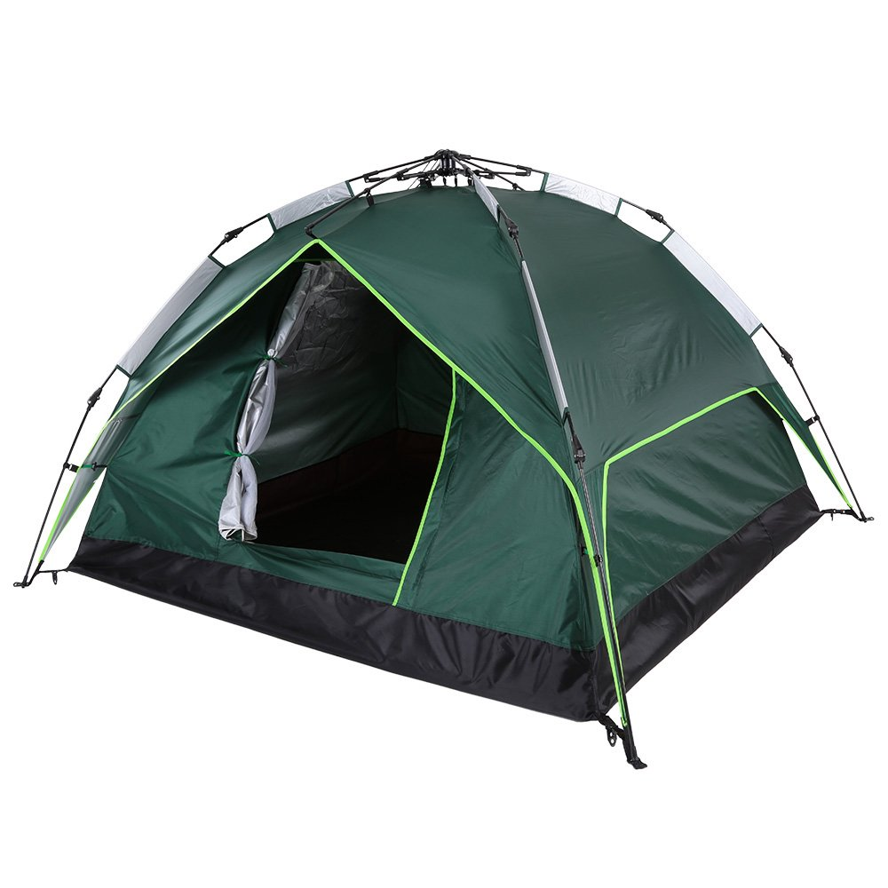 Sun Vale Outdoor Waterproof Automatic Throwing Pop up Camping Tent 200200140cm Two-Layer Double Tent Beach Fishing Tent 170T Polyester
