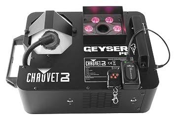 CHAUVET DJ Geyser P6 Vertical Fog Machine w/LED Light Effects/Wireless Remote &