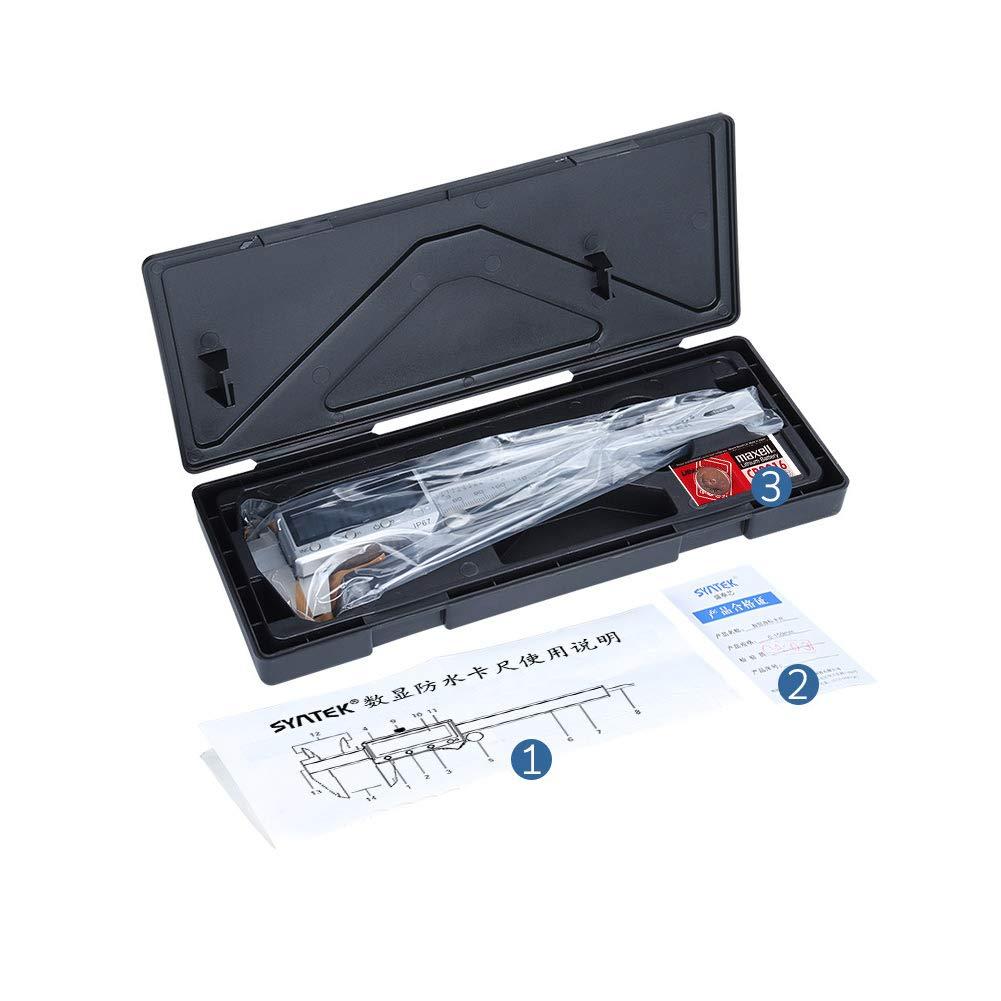 6In Fracci/óN//Herramienta De Medici/óN De Conversi/óN M/éTrica para Industrial 150 Acant Calibrador Digital Vernier Caliper 150Mm
