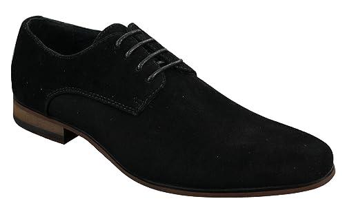 plus récent e5fa2 0d779 Chaussures Homme Daim Nubuck à Lacets Style Décontracté Chic Bleu Marine  Noir Brun