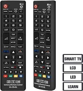 Grock mando a distancia universal vlg-22 Compatible de repuesto para LG SMART TV/HDTV/LCD/LED, aplicable AKB72914207 AKB72914003 AKB72914240 akb72915239 agf76692608 AKB72915206 AKB72915238: Amazon.es: Electrónica