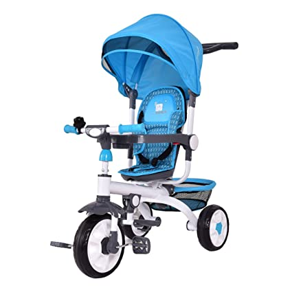 Costzon 4-in-1 Kids Tricycle Steer Stroller Toy Bike w/ Canopy Basket  sc 1 st  Amazon.com & Amazon.com : Costzon 4-in-1 Kids Tricycle Steer Stroller Toy Bike ...