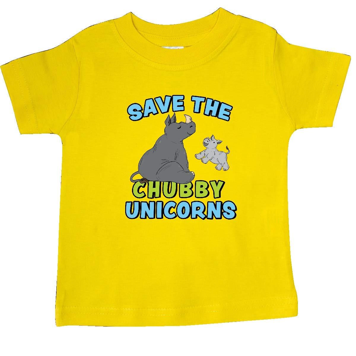 inktastic Save The Chubby Unicorns-Cute Rhinos Baby T-Shirt