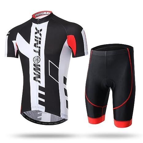 2017 Xintow Men s Cycling Jersey 3D Cushion Padded Bib Shorts Clothing Wear  Short Sleeve Bike Jacket 3e9b49b6a