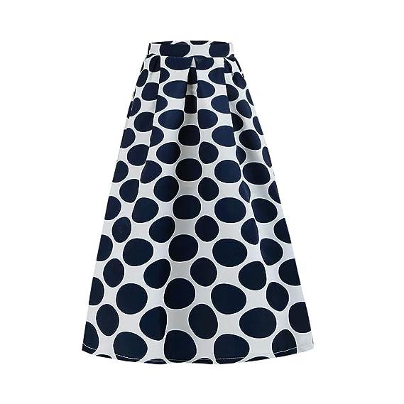 Sylar Faldas Largas Bohemias Faldas Plisadas Mujer Estampado De ...