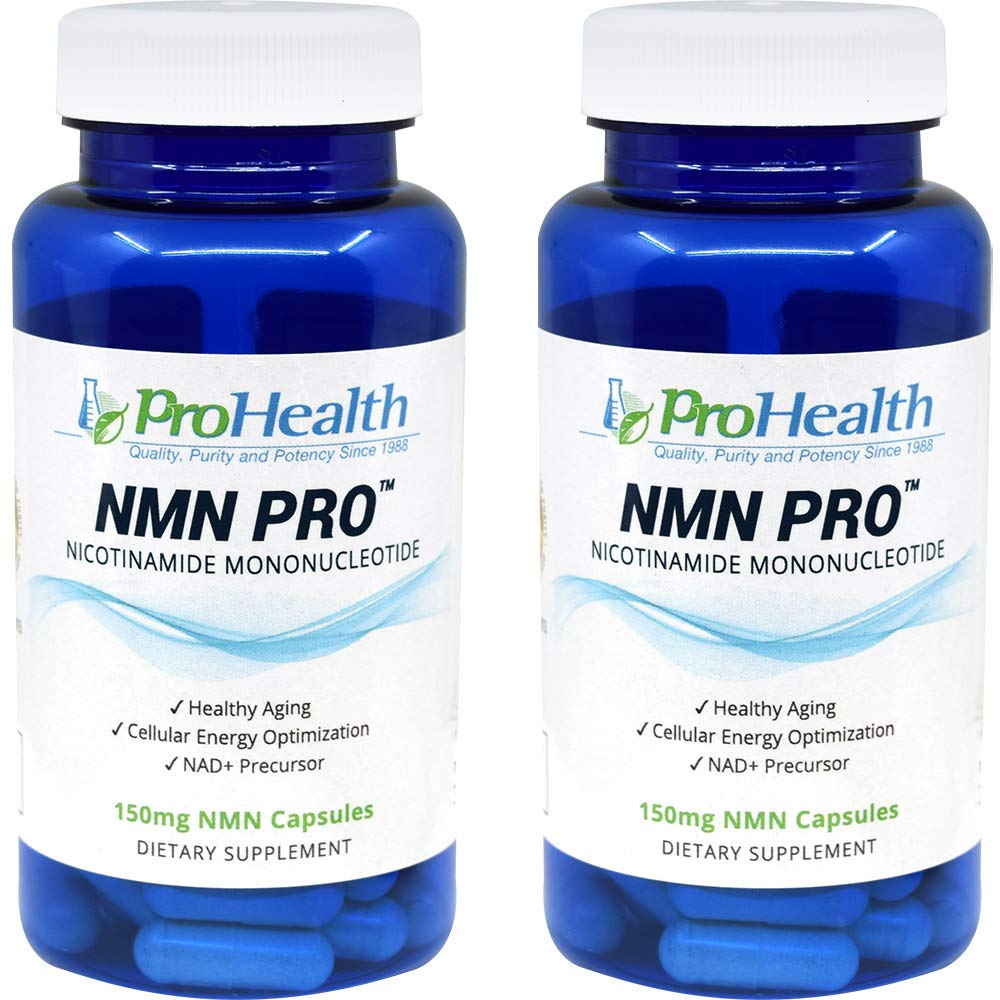 ProHealth NMN Pro 2 -Pack (150 mg, 60 Acid Resistant Veggie Capsules) Nicotinamide Mononucleotide | NAD+ Precursor | Supports Anti-Aging, Longevity and Energy | Non-GMO